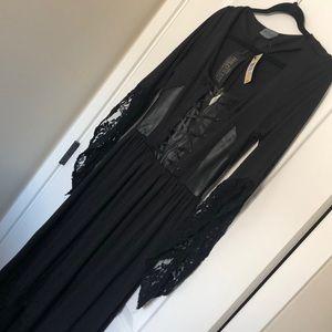 BNWT Torrid Maleficent corset hi lo dress 0X
